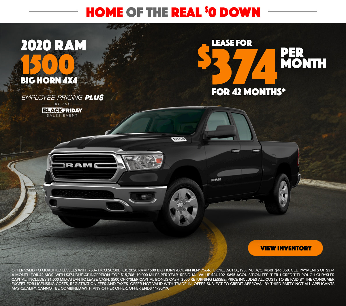 2020 RAM 1500 Lease Special