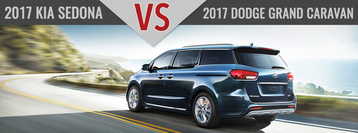 2017 Kia Sedona vs. 2017 Dodge Grand Carvan Charlotte NC