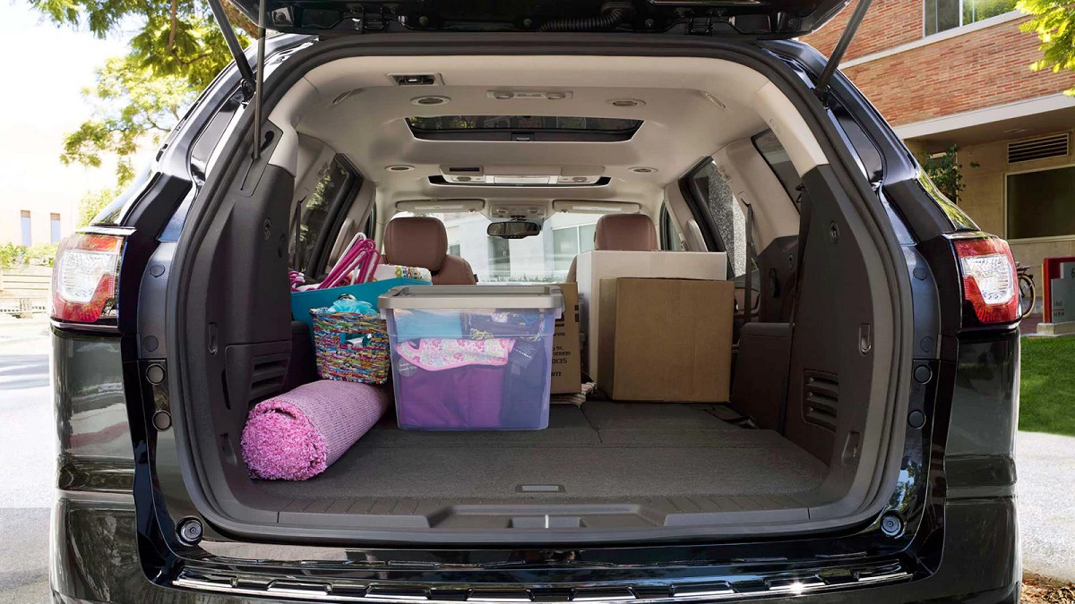 Cargo Space within the Chevy Traverse