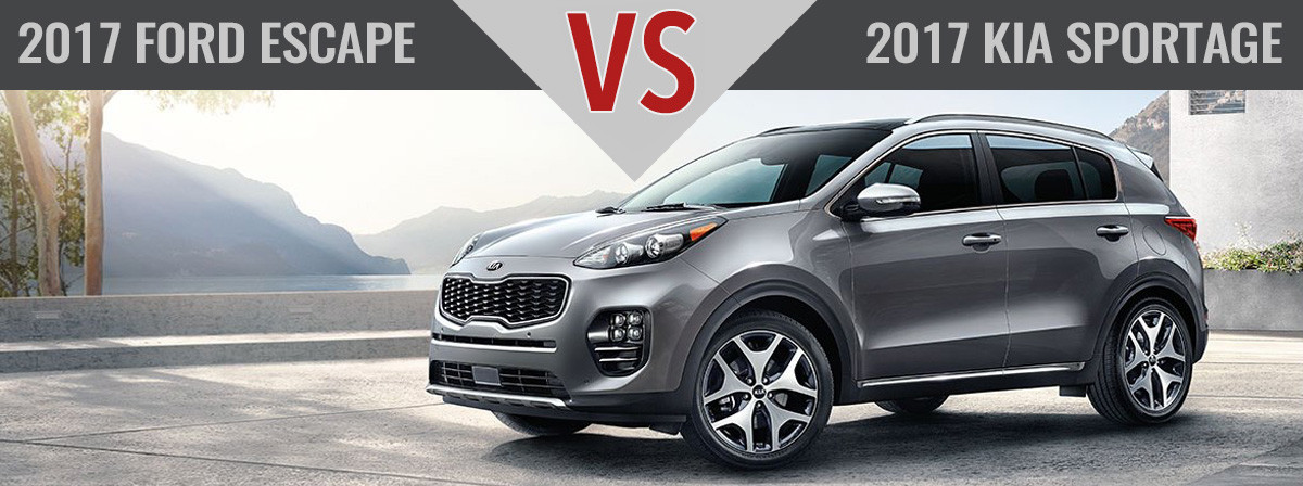 2017 Kia Sportage vs. 2017 Ford Escape Monroe NC