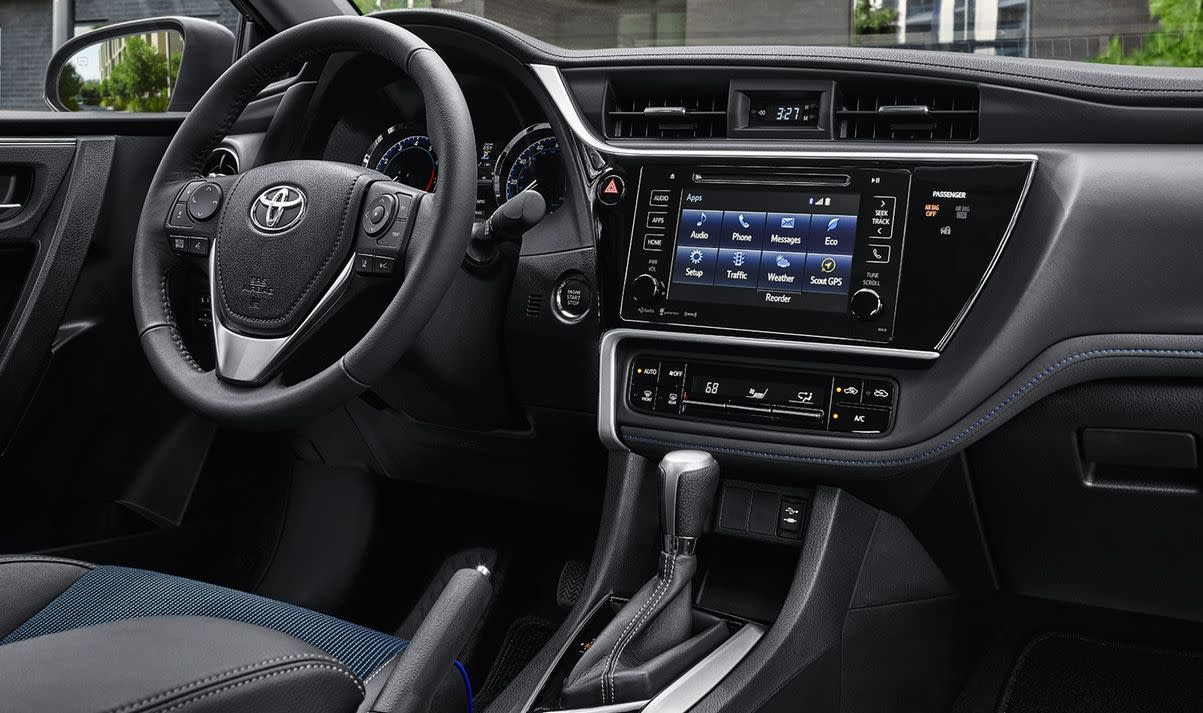 Interior of the 2019 Corolla