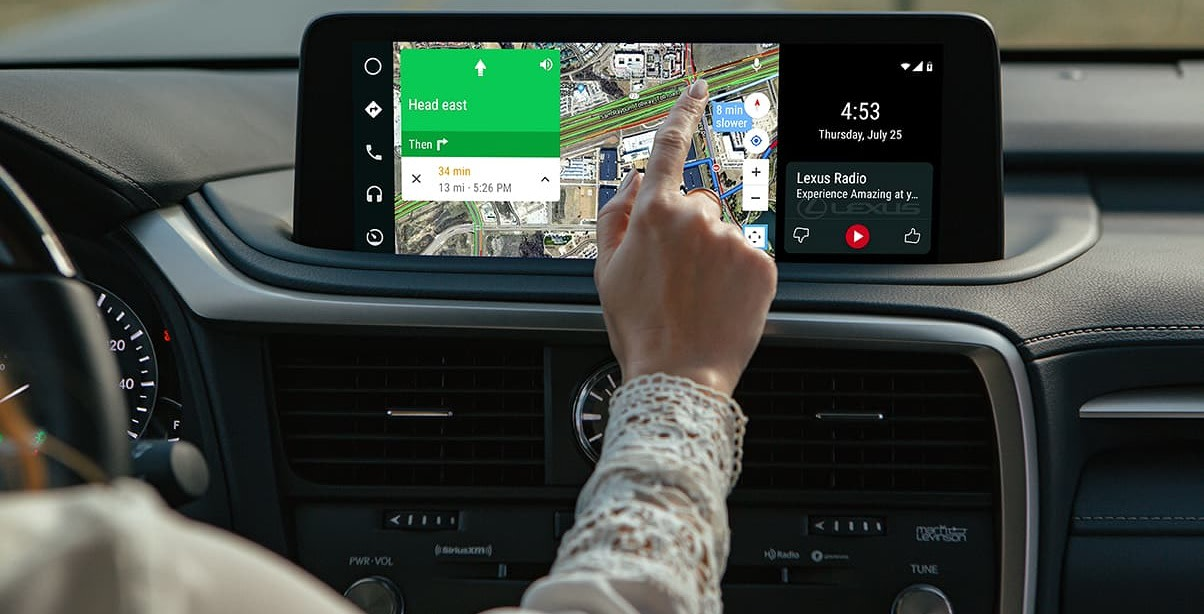 Touchscreen Display in the 2020 Lexus RX 350
