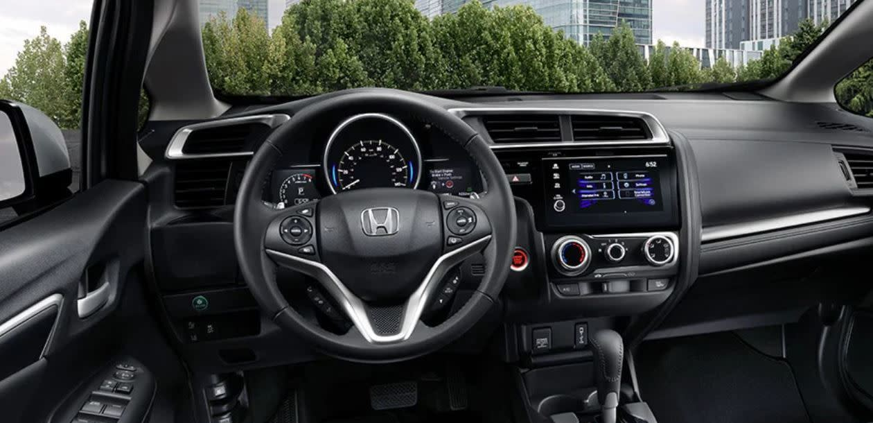 Interior of the 2020 Fit