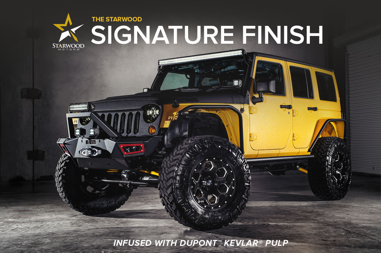 Elegant Custom Jeeps Dallas. Starwood Signature Finish Infused With DuPont™ KEVLAR®  Pulp