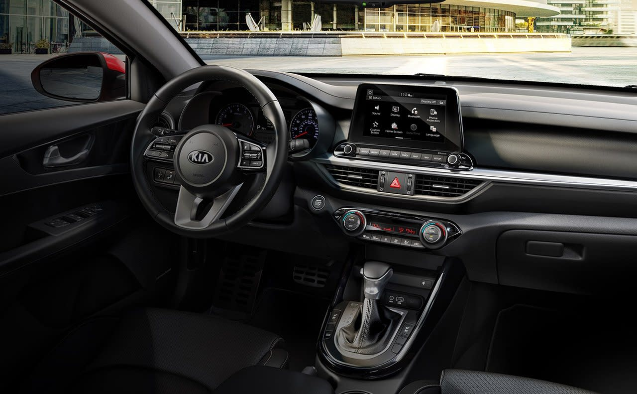 Interior of the 2019 Kia Forte