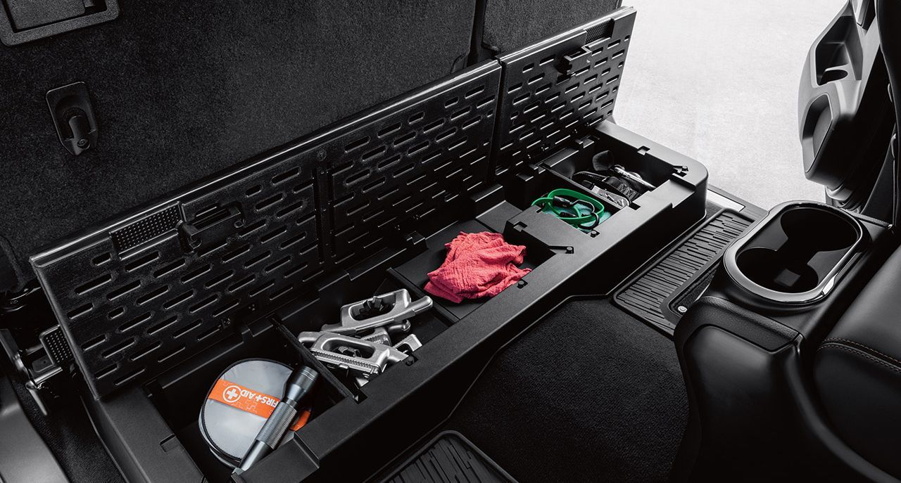 Lockable Cargo Compartment in the Nissan Titan XD