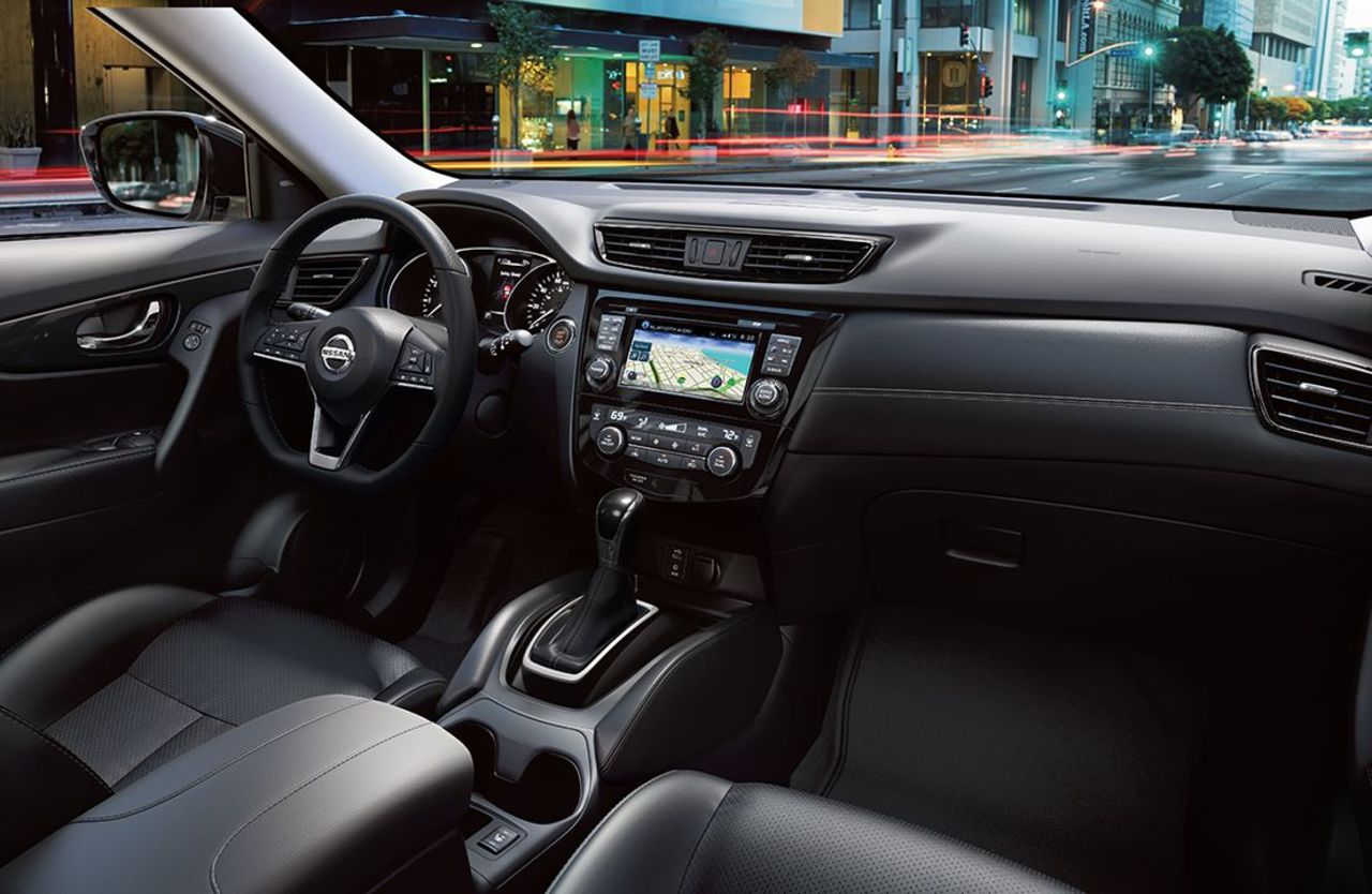 Interior of the Nissan Rogue