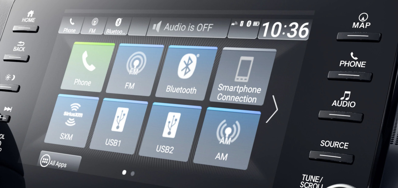 Touchscreen in the 2020 Honda Accord