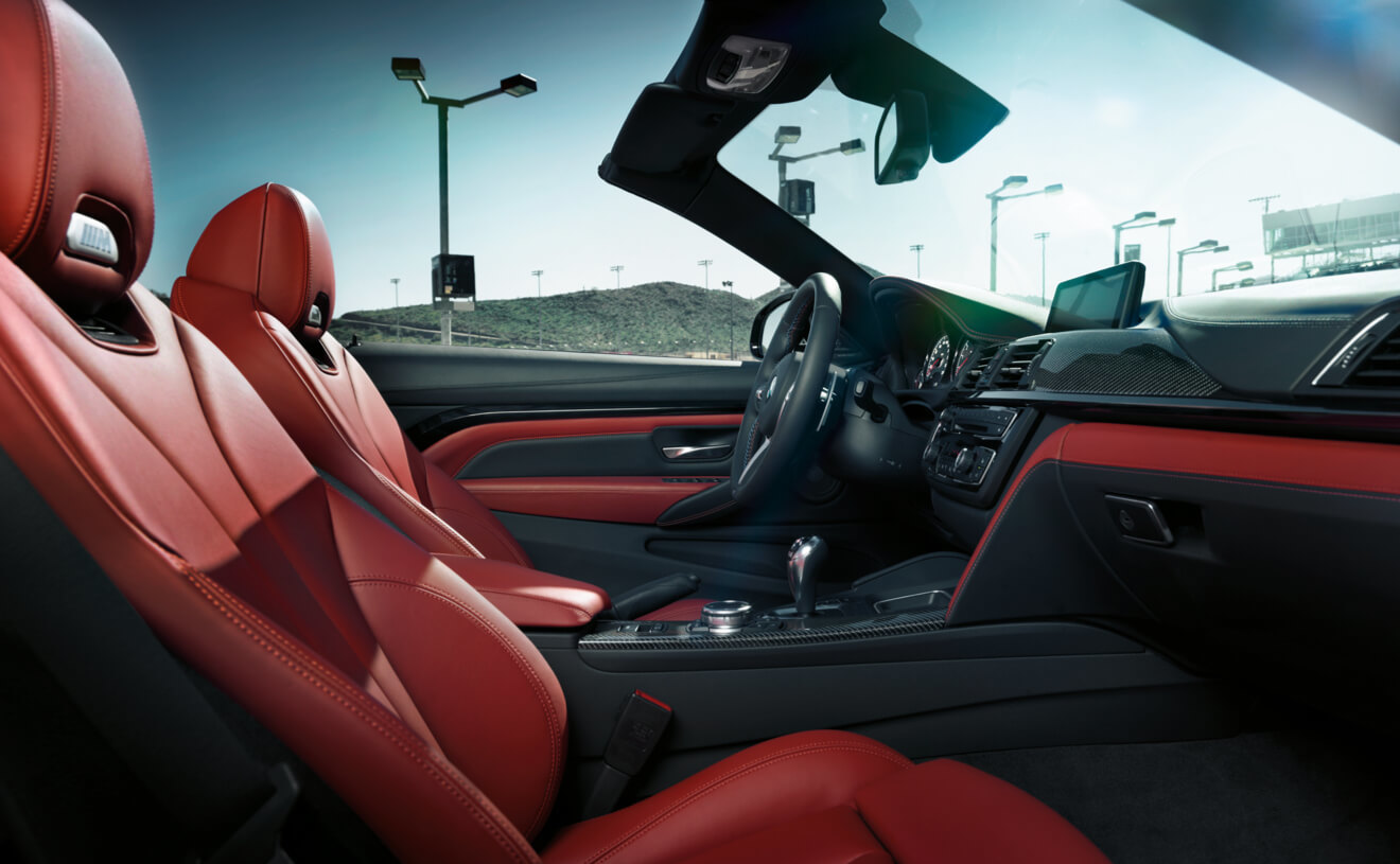 The M4 has a Sporty Interior