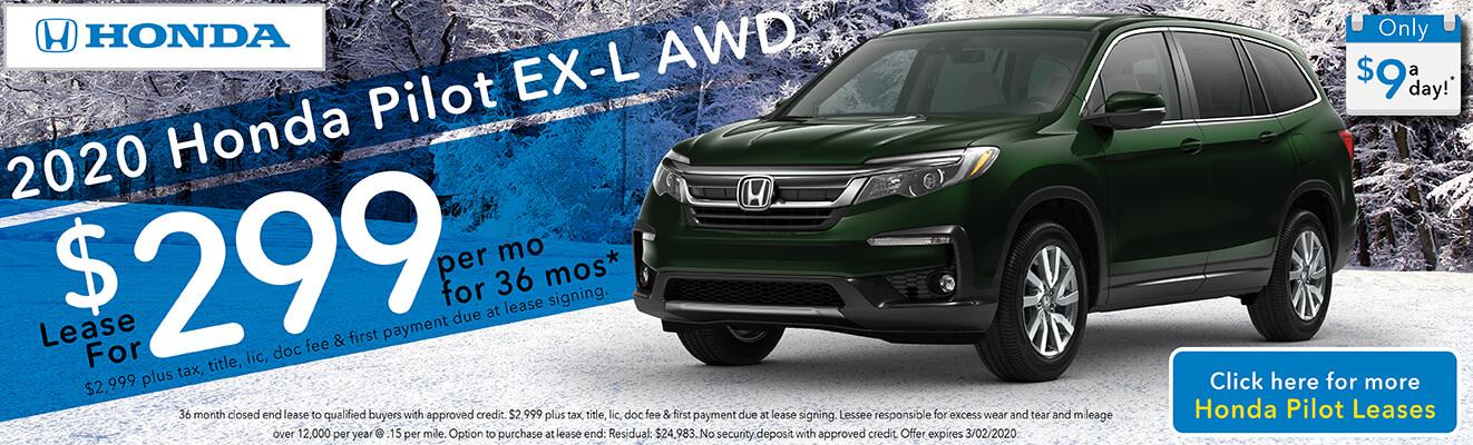 2020 Honda Pilot EX-L AWD Dealer Specials