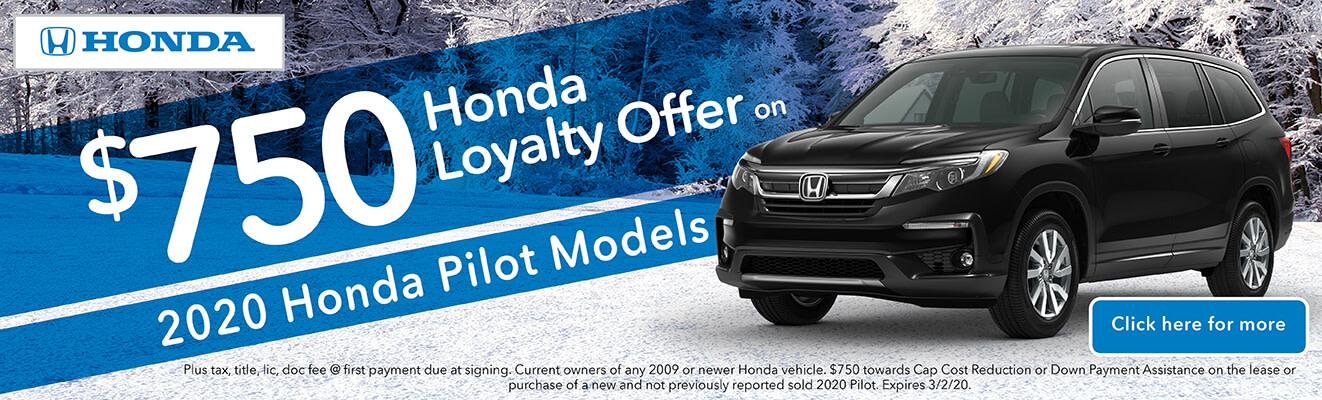 Loyalty Offer 2019 Honda Pilot