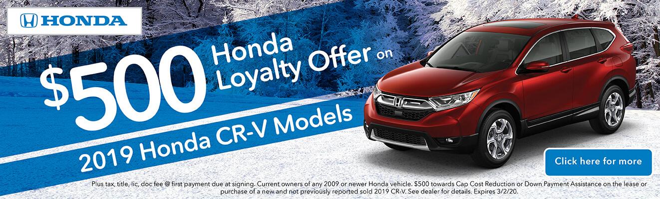 2020 Honda Loyalty Offer CR-V
