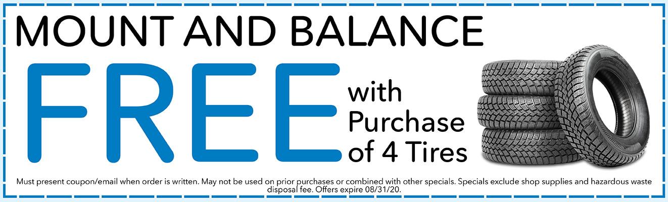 Free Tire Mount & Balance