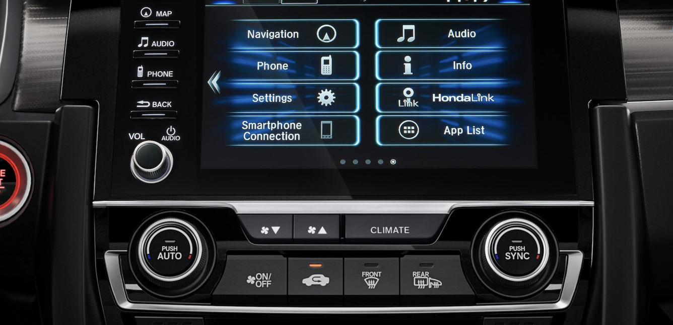 Infotainment in the 2020 Honda Civic