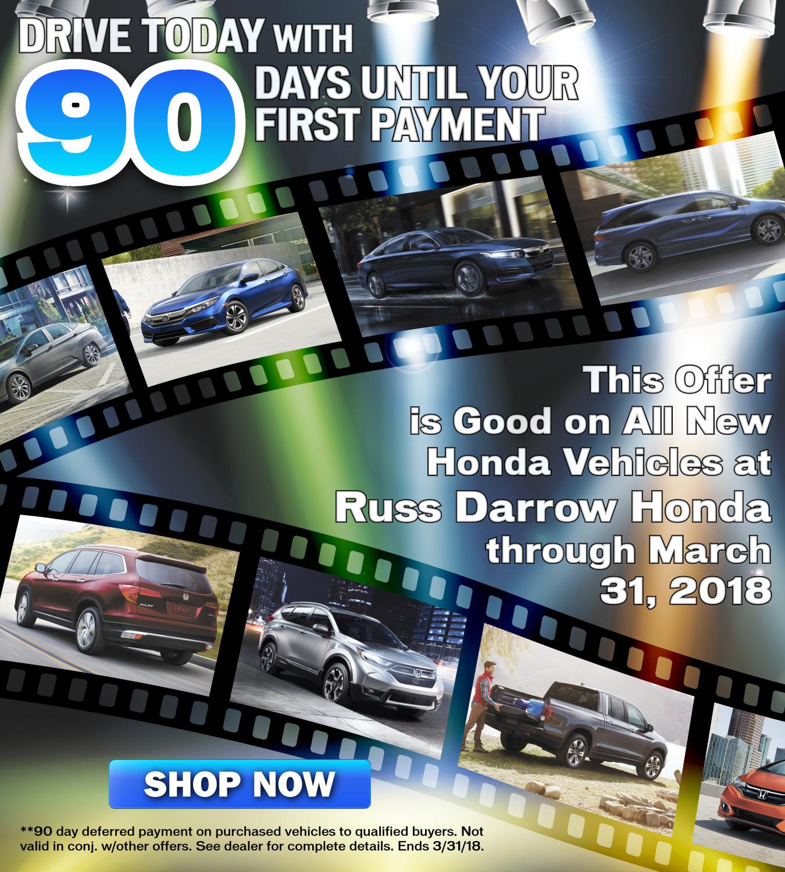 Russ Darrow Honda >> 90 Days To First Payment Russ Darrow Honda