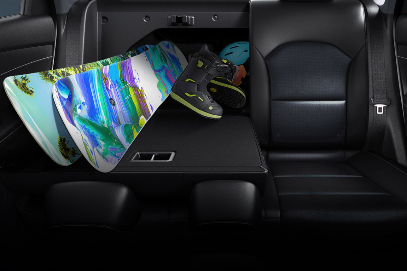 Backseat Storage in the 2020 Kia Forte