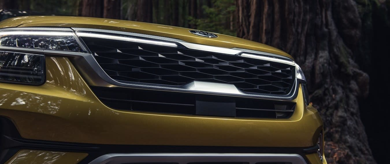 Front Grille of the 2021 Seltos