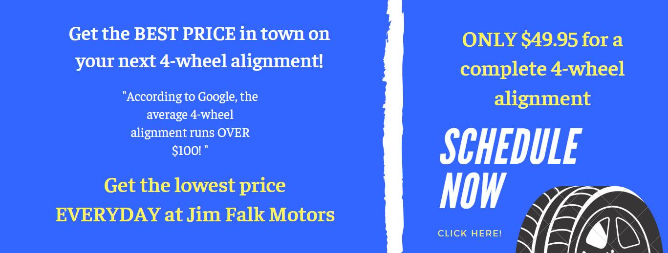 Schedule Your 4 Wheel Alignment at Jim Falk Motors