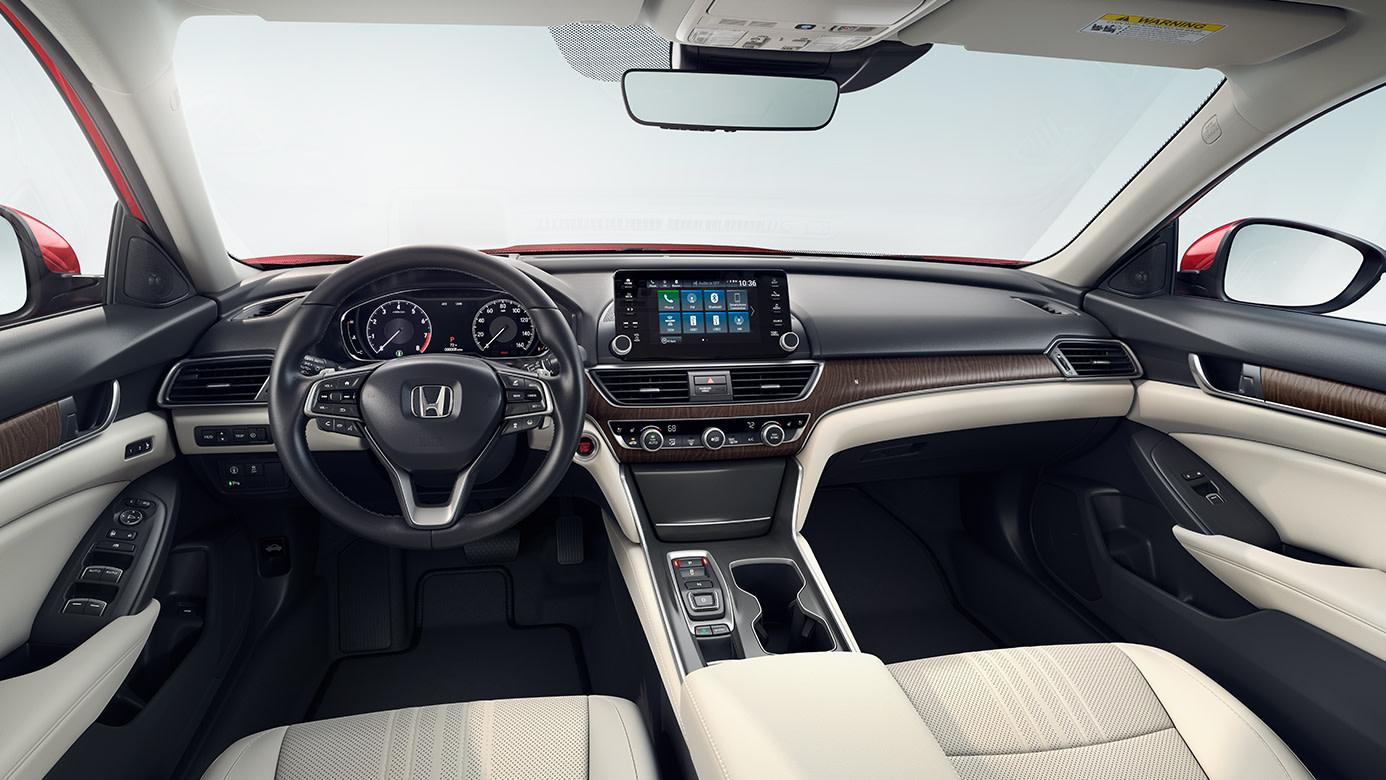 Interior of the 2018 Honda Accord Hybrid
