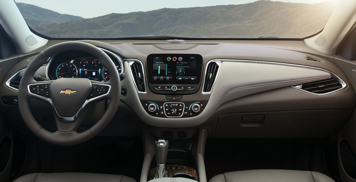 Interior of the 2018 Malibu