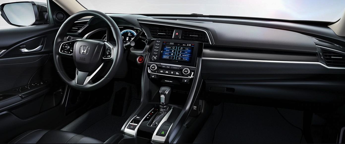Interior of the 2020 Honda Civic