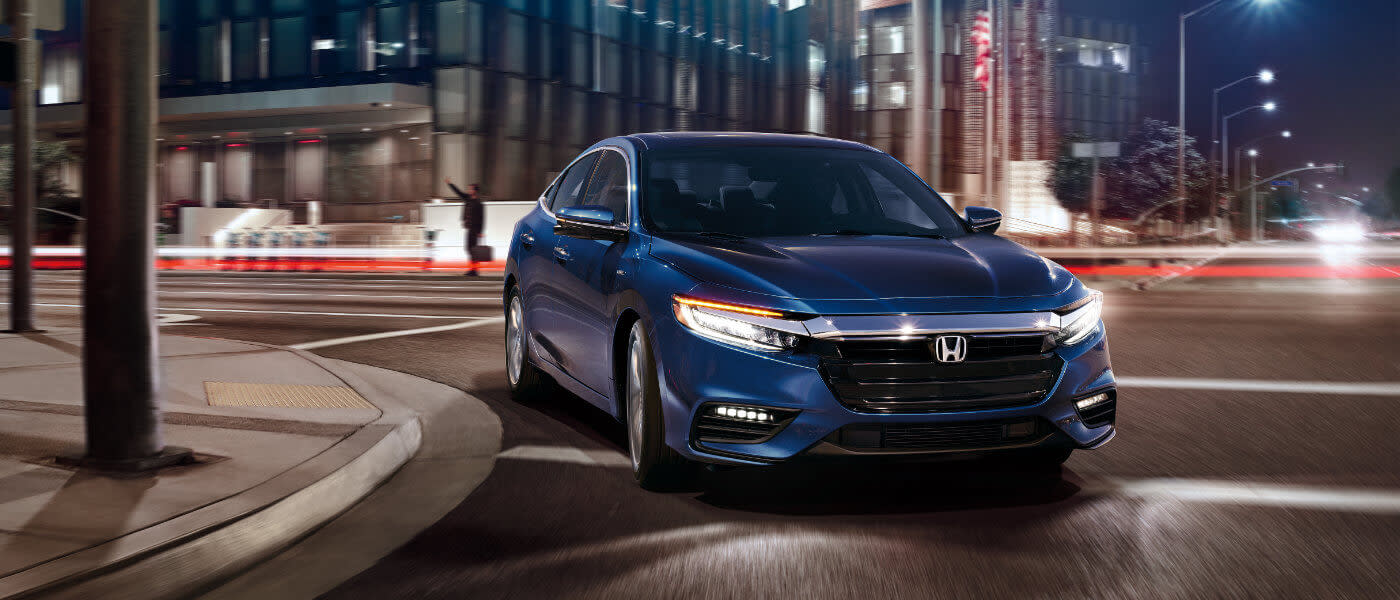2019 Honda Insight exterior city at night