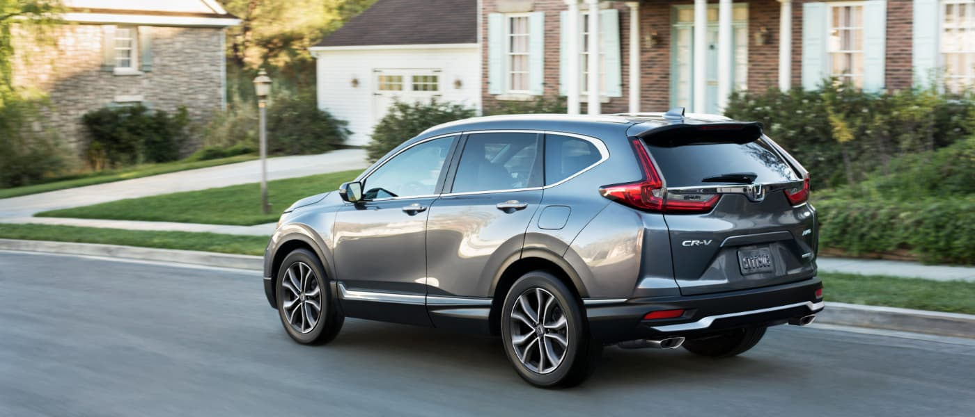 2020 Honda CR-V driving in a neighborhood