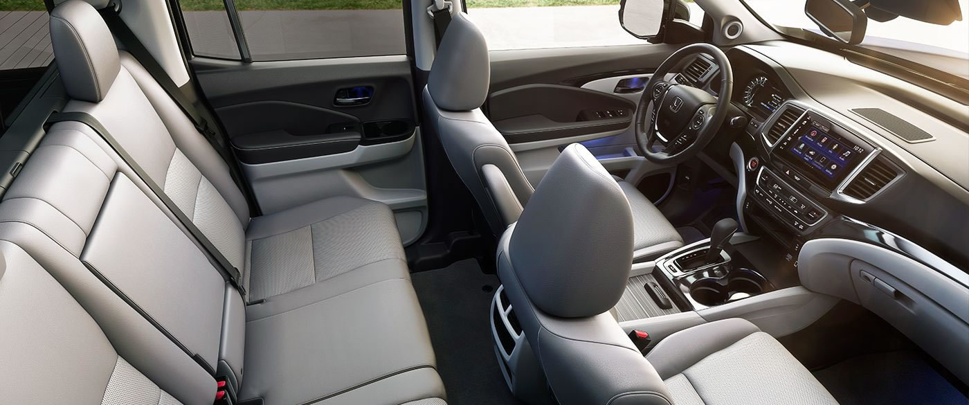 The Spacious Interior of the 2017 Ridgeline is Comfortable!