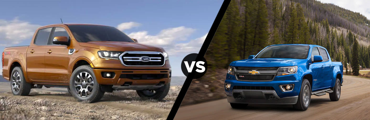 2019 Ford Ranger vs 2019 Chevy Colorado Comparison Research