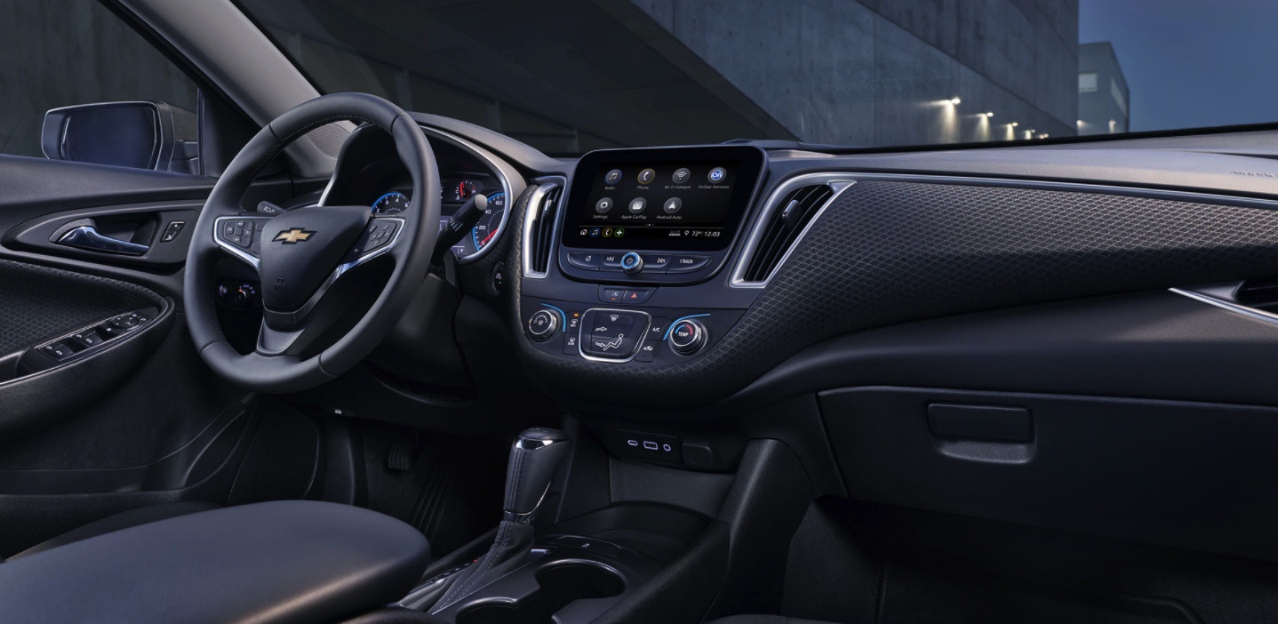 Interior of the 2020 Chevrolet Malibu