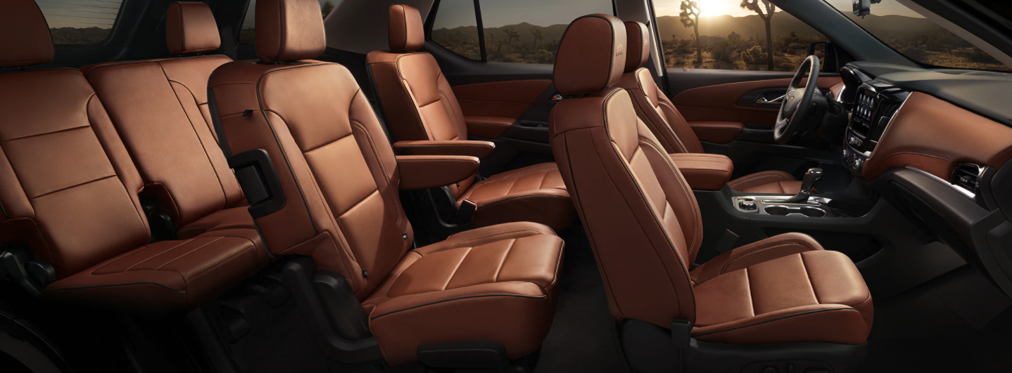 Interior of the 2020 Chevrolet Traverse