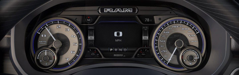 Dashboard of the 2020 Ram 1500