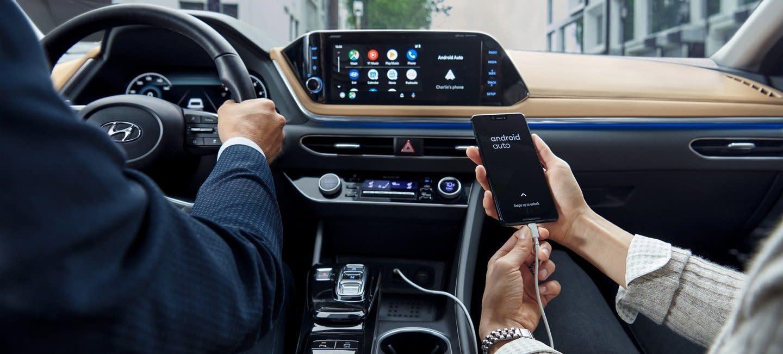 Interior of the 2020 Hyundai Sonata