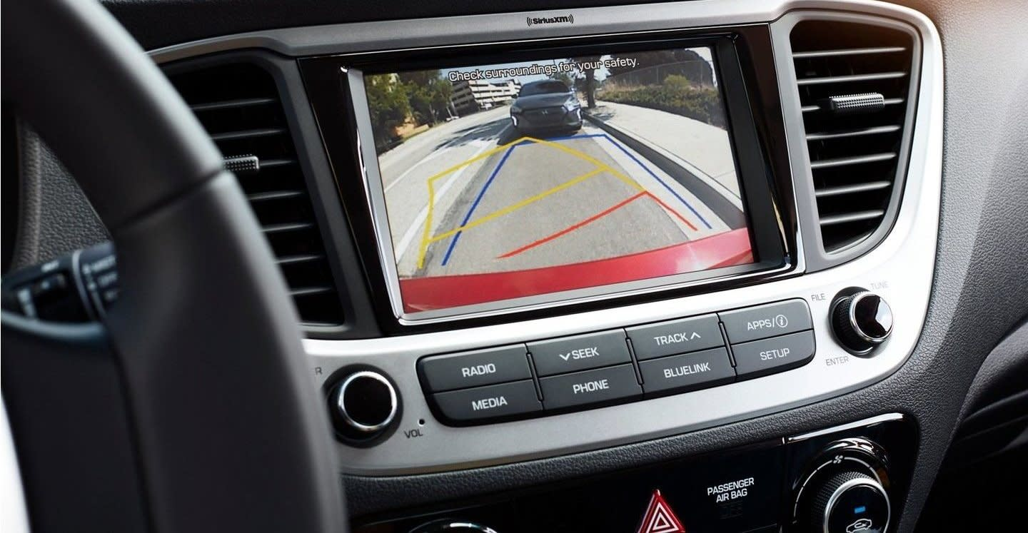 2020 Hyundai Accent Rearview Camera with Dynamic Guidelines
