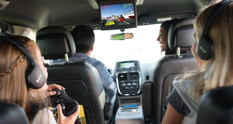 Entertainment in the Grand Caravan