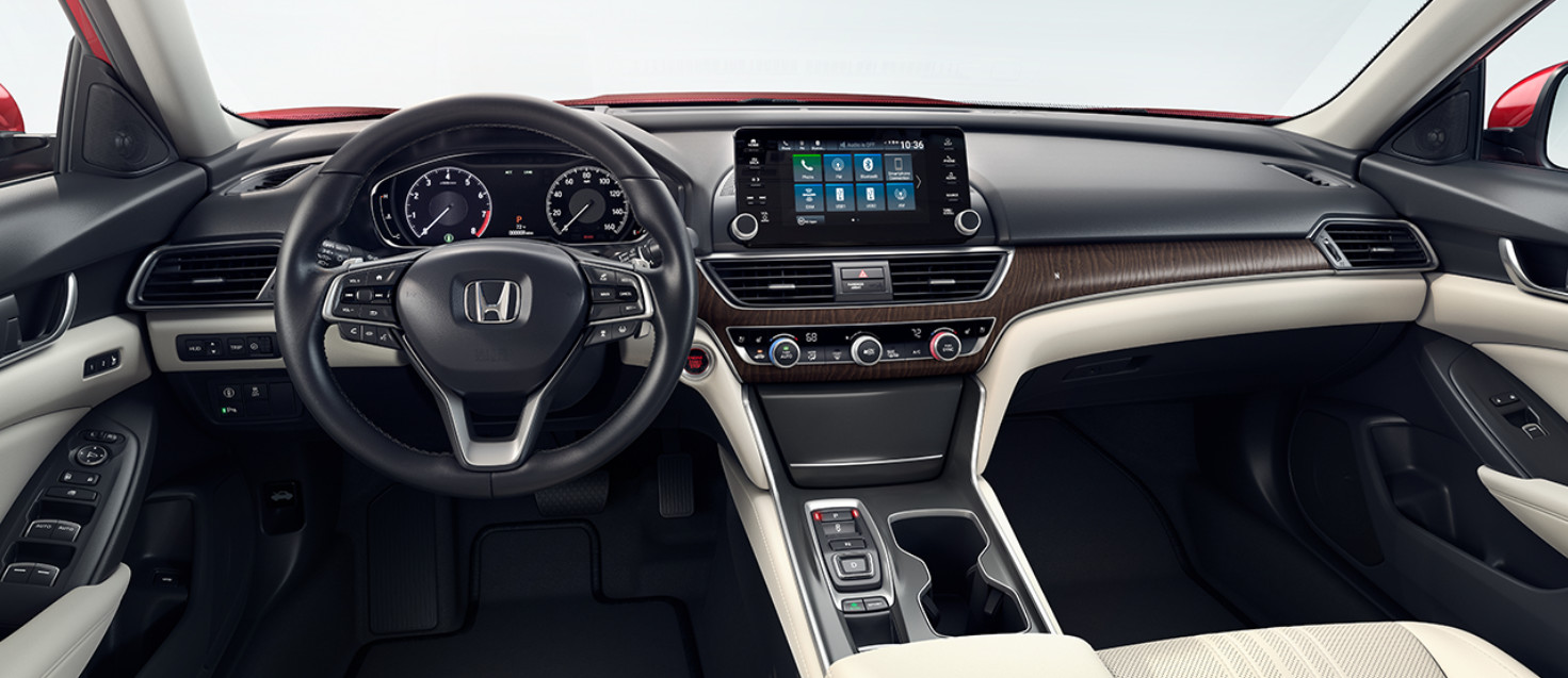 Interior of the 2018 Honda Accord