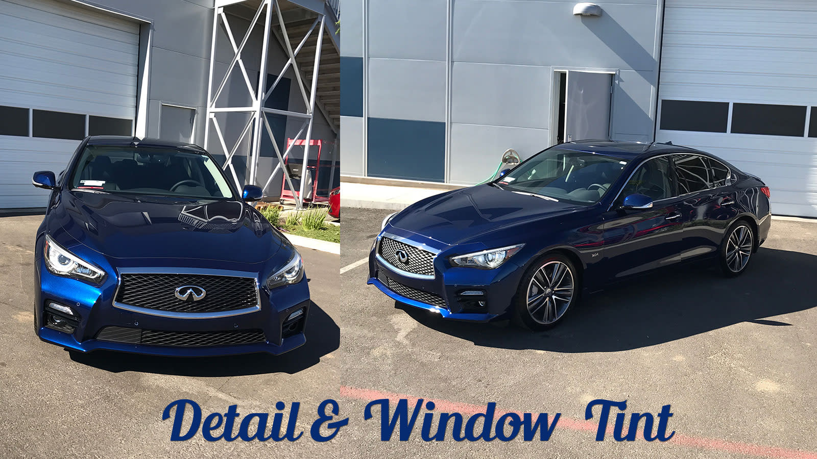 Infiniti Detailed and Window Tinted