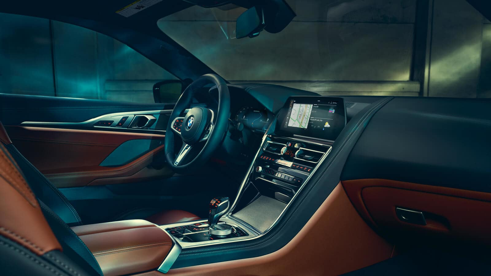 Interior of the 2019 BMW 8 Series