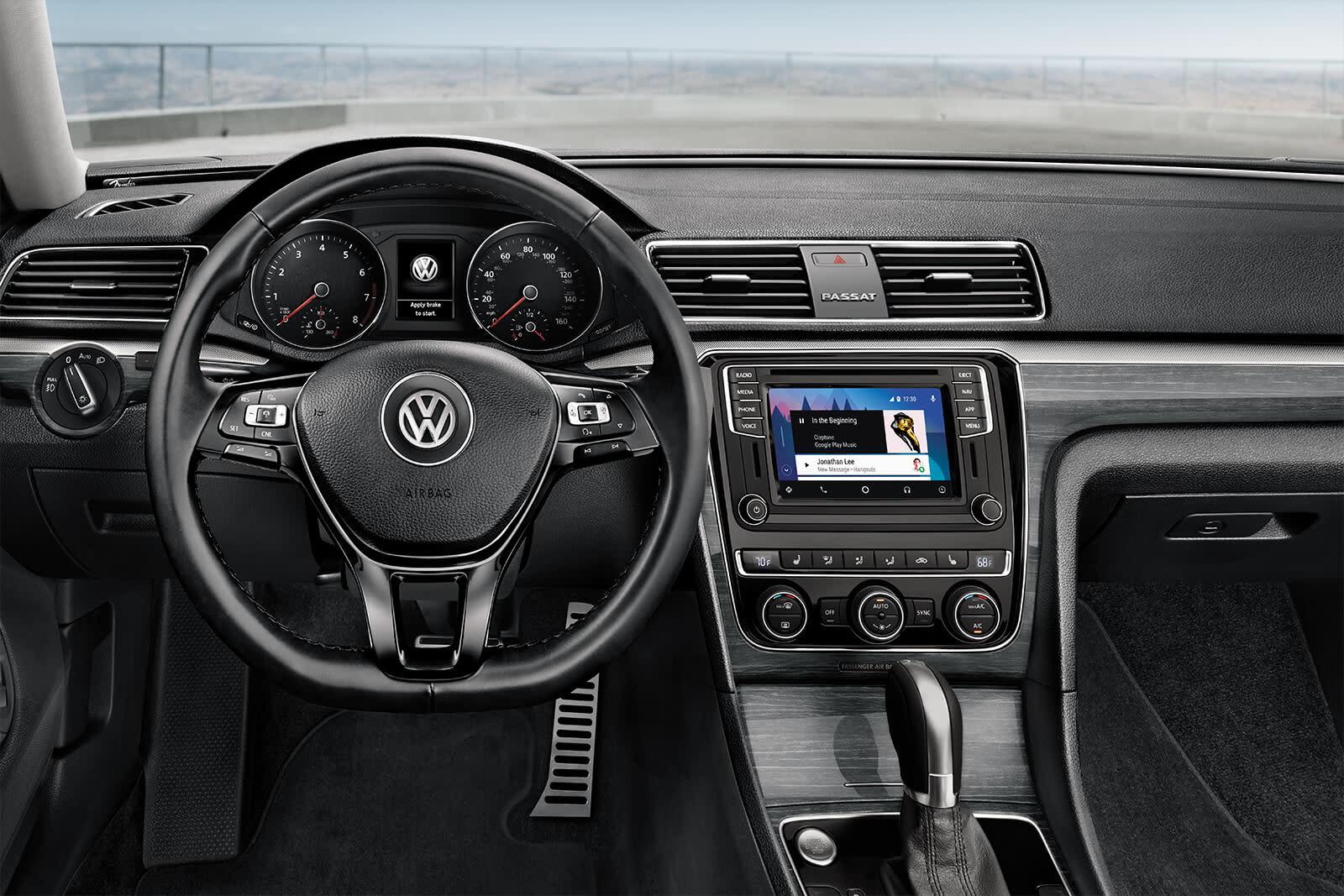 Interior of the 2019 Volkswagen Passat