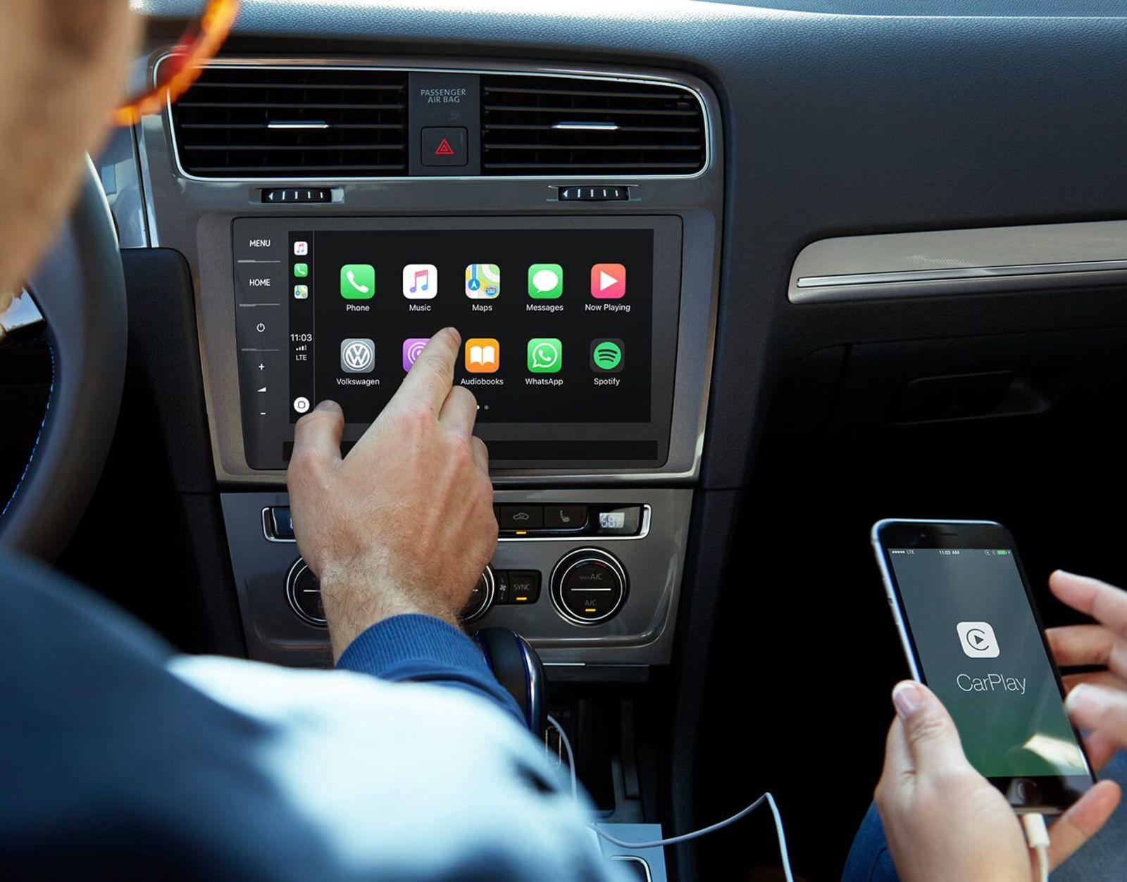 Integración Apple CarPlay del Volkswagen e-Golf 2019