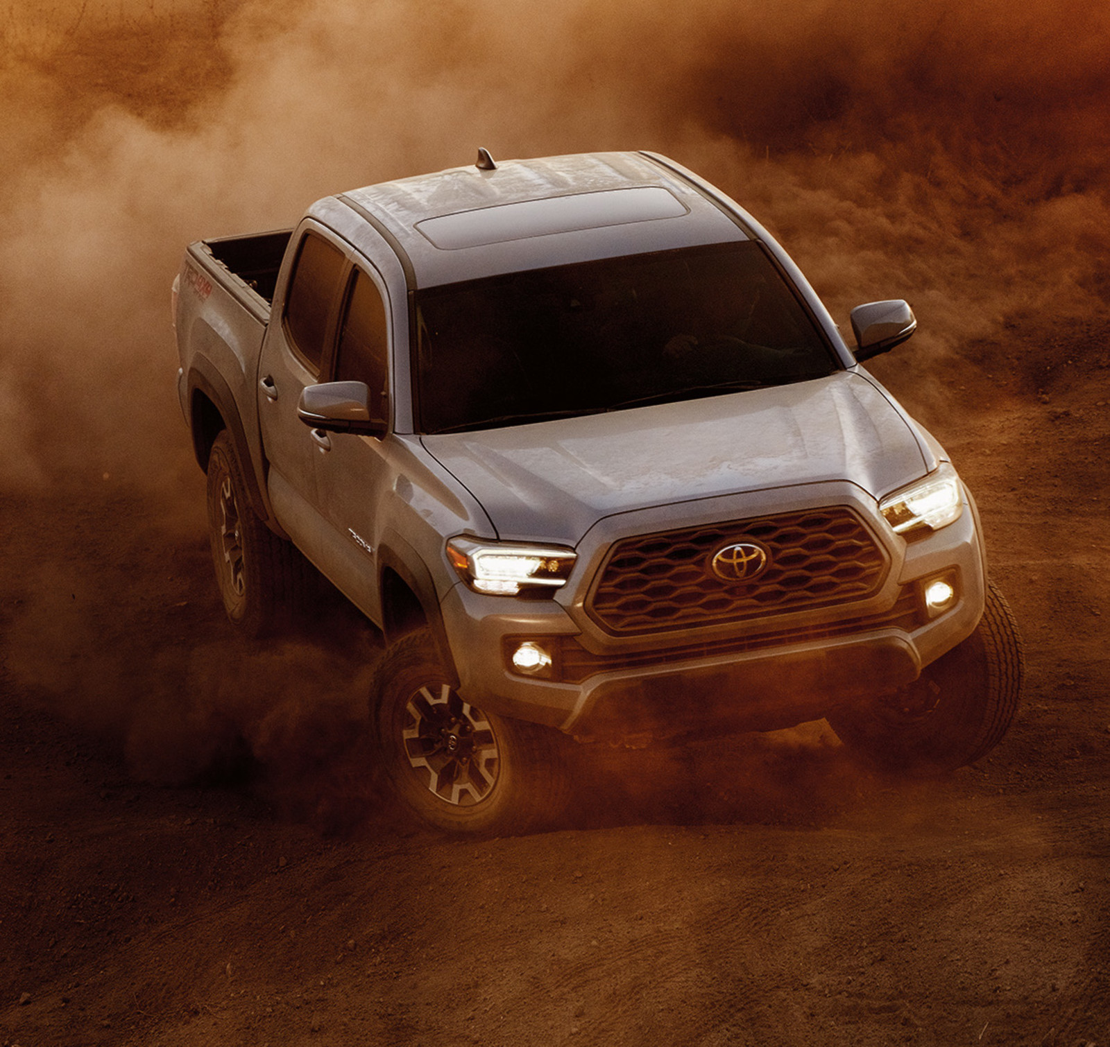 Model Features of the 2020 Toyota Tacoma at Tri County Toyota in Royersford | Sliver 2020 Tacoma cover in dust
