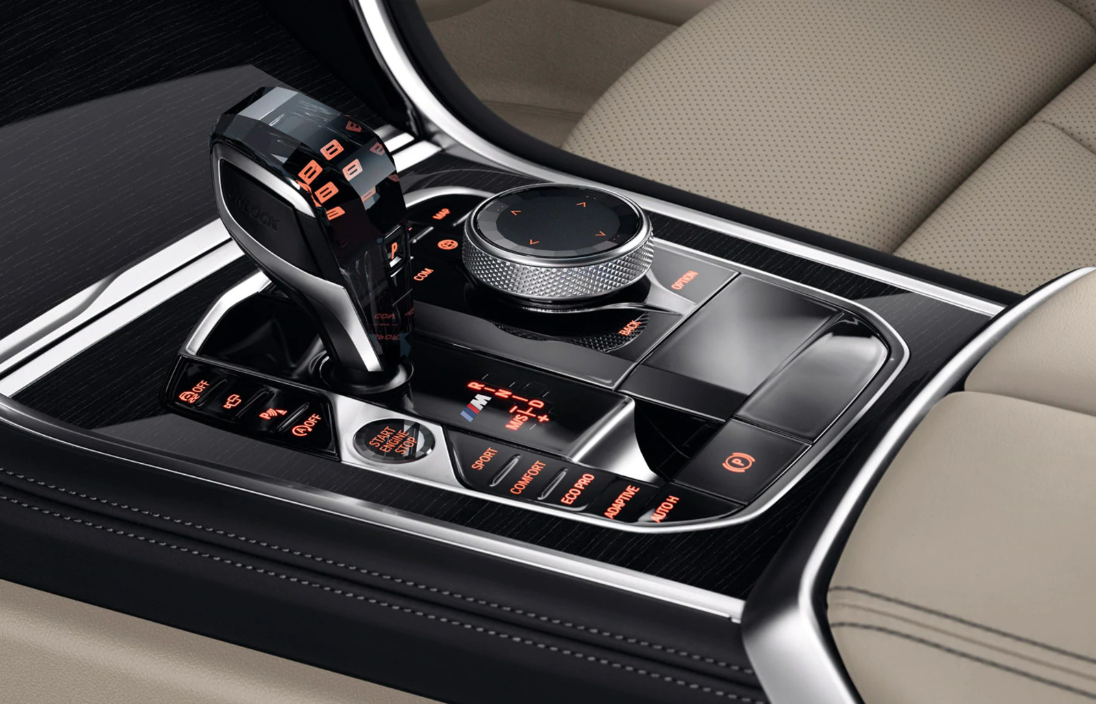 Controls in the 2020 BMW 8 Series