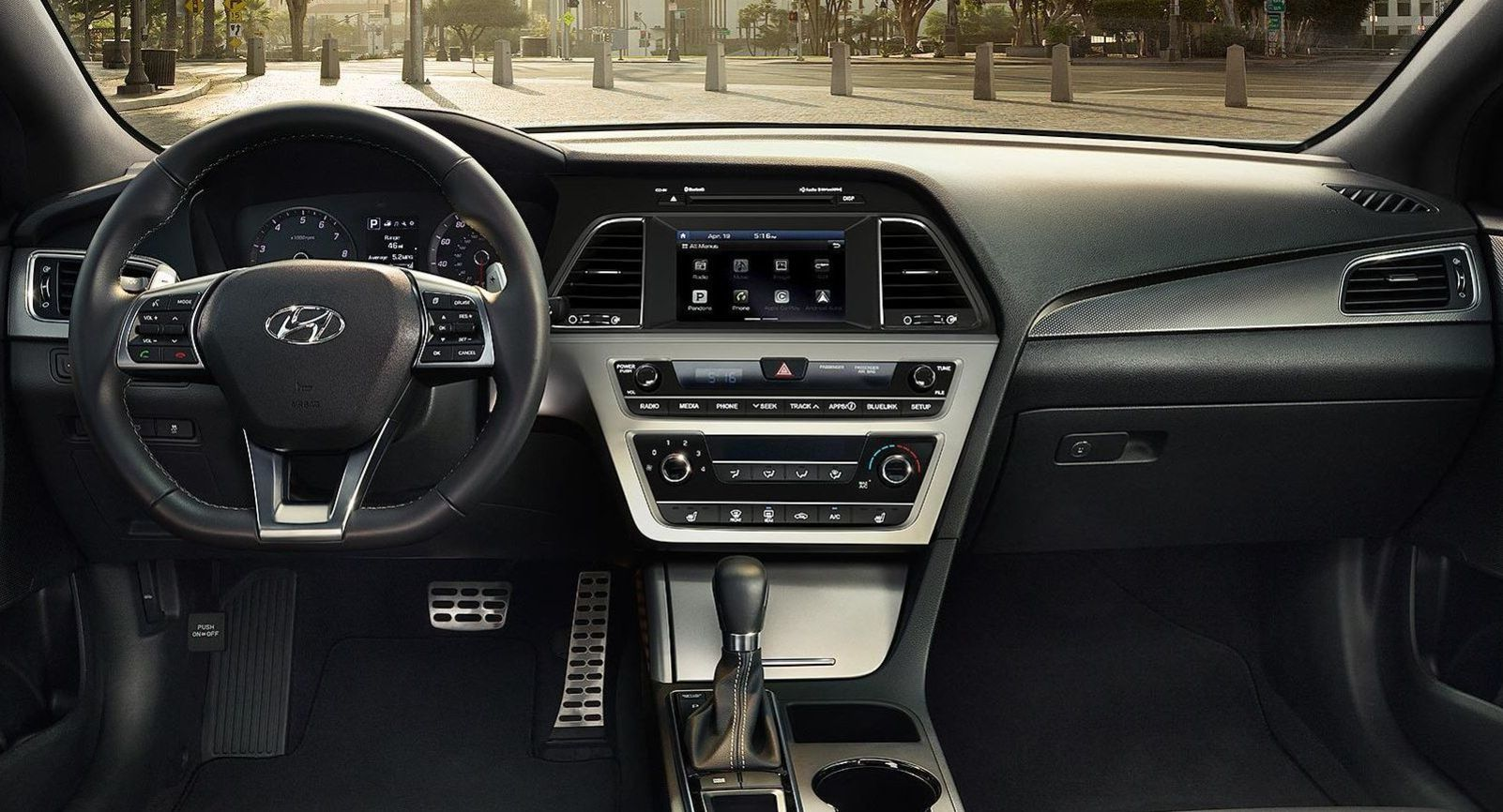 The Interior of the 2017 Sonata