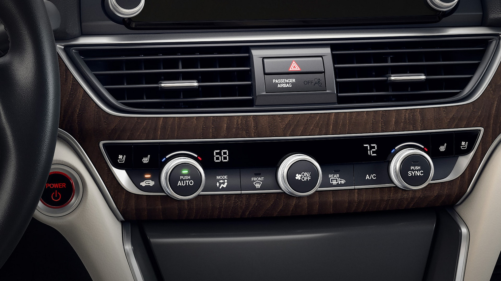Standard Dual-Zone Climate Control in the 2020 Accord