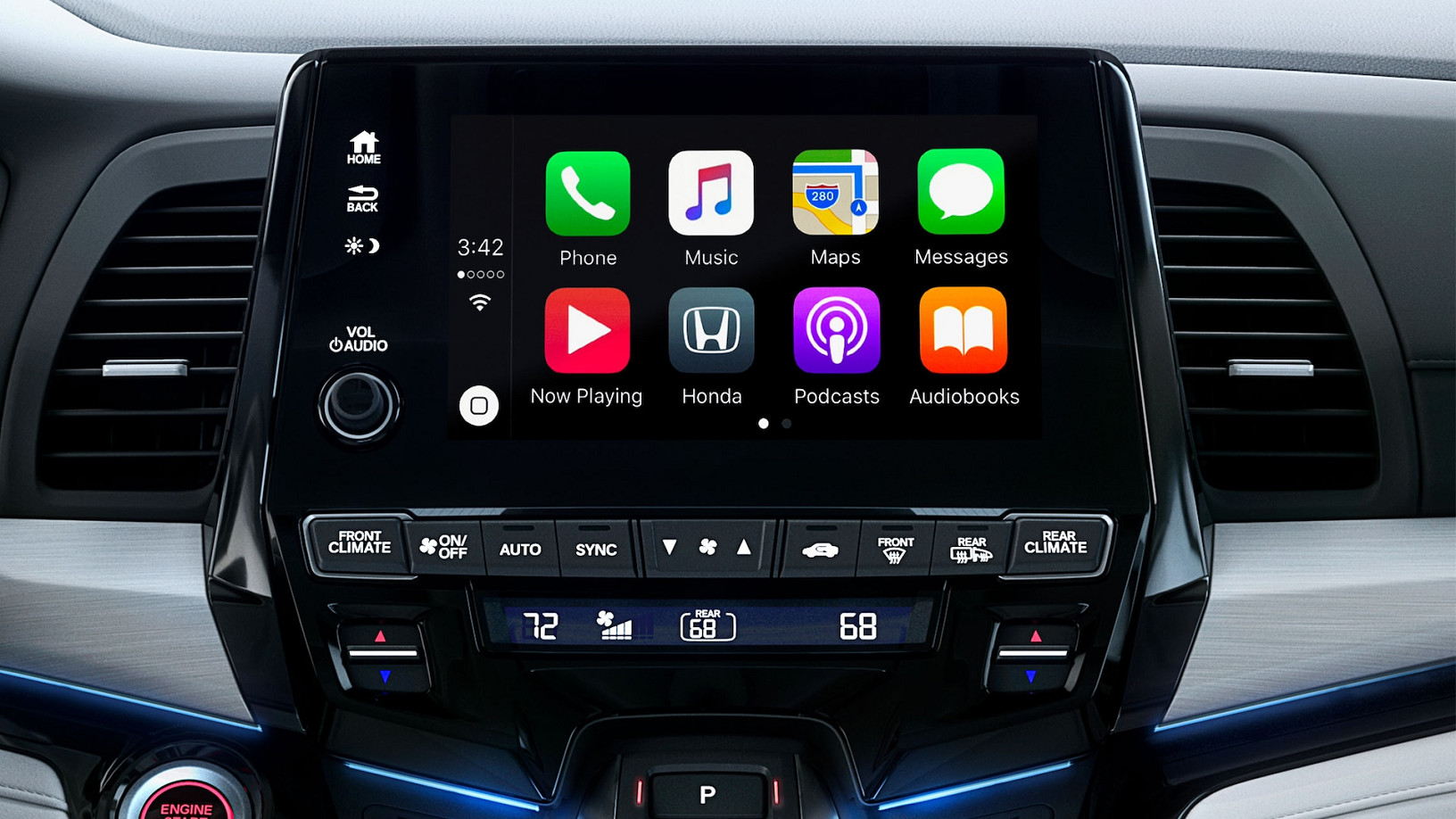 Available Apple CarPlay™ in the 2020 Honda Odyssey