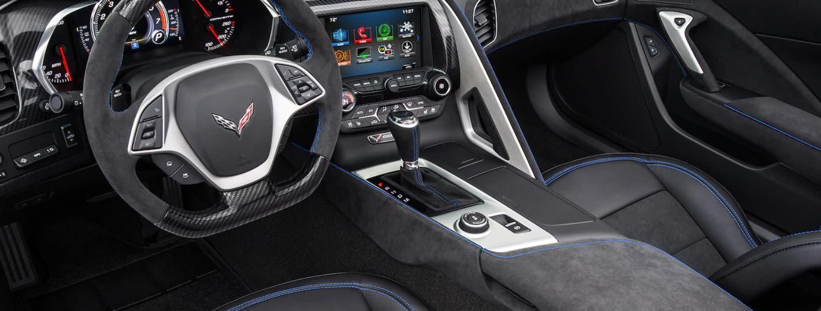 Interior of the 2019 Corvette