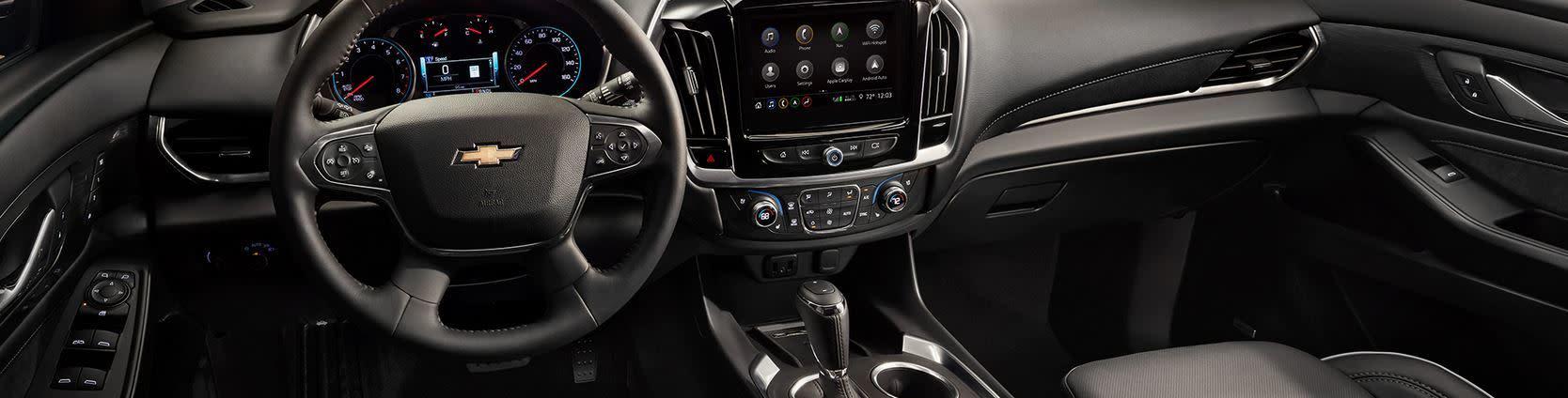 Interior of the 2020 Chevrolet Traverse