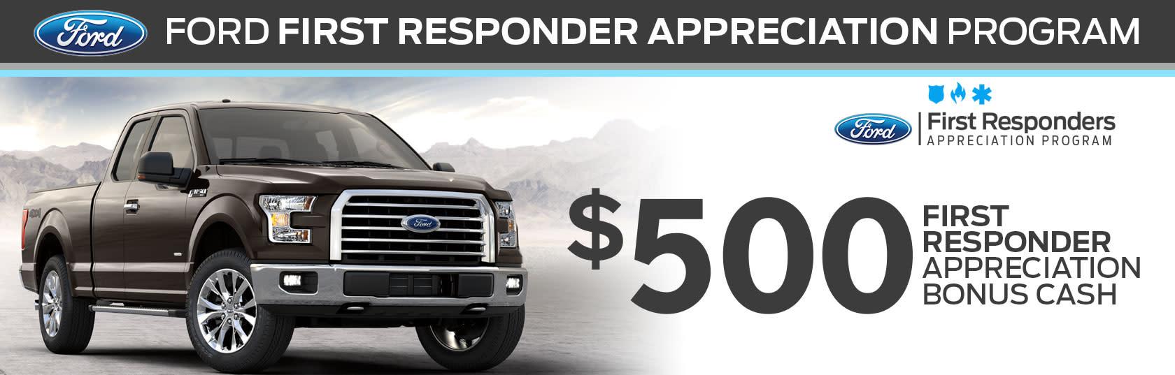 Ford First Responder >> Joe Cotton Ford First Responder Bonus Cash