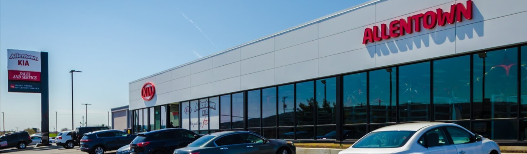 The exterior of the best Kia Dealership in PA, Allentown Kia