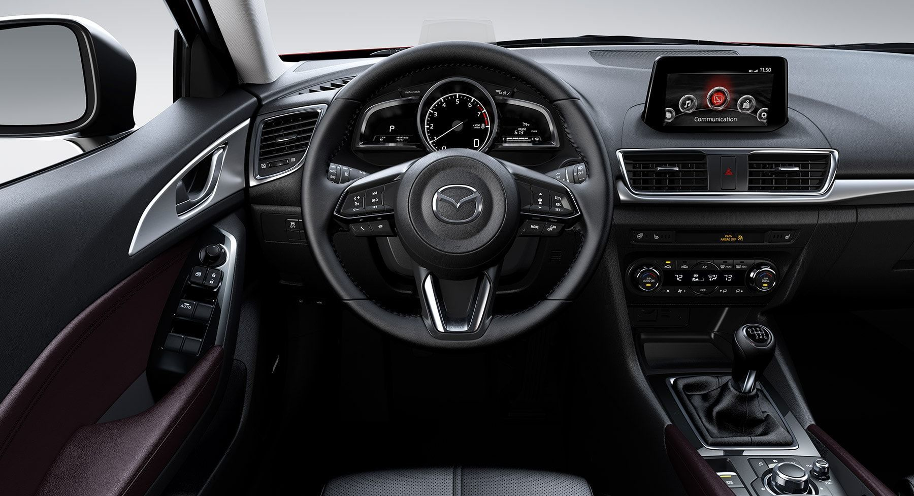 Technologically-equipped Cabin of the 2017 Mazda3